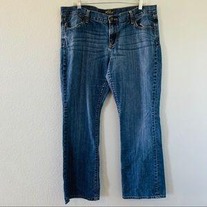 Medium Wash Mid Rise Old Navy Flirt Jeans 14 short